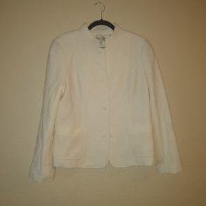 New Talbots White Blazer 12